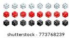 set of isometric dice... | Shutterstock .eps vector #773768239