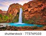 havasu falls at sunrise. | Shutterstock . vector #773769103
