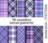 set of seamless tartan patterns   Shutterstock .eps vector #773773366