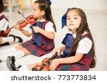 good looking little girl...   Shutterstock . vector #773773834