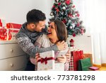 smiling modern young couple... | Shutterstock . vector #773781298