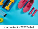 athlete's set with female... | Shutterstock . vector #773784469