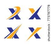 x initial logo vector | Shutterstock .eps vector #773787778