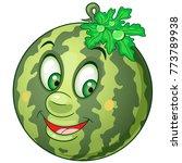 cartoon watermelon icon. fruit... | Shutterstock .eps vector #773789938