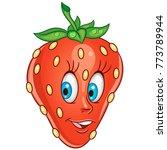 cartoon strawberry icon. fruit... | Shutterstock .eps vector #773789944