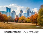 atlanta  georgia  usa midtown... | Shutterstock . vector #773796259