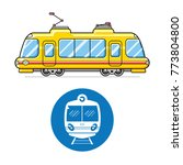 city train or electric multiple ...   Shutterstock .eps vector #773804800