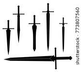 swords set. sword isolated on... | Shutterstock .eps vector #773807560