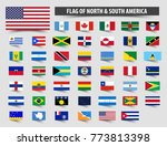 set of official flags of north... | Shutterstock .eps vector #773813398