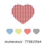 love symbol vector  | Shutterstock .eps vector #773815564