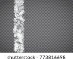 snowflake border for christmas...   Shutterstock .eps vector #773816698