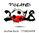 abstract number 2018 and soccer ... | Shutterstock .eps vector #773824498