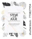 wedding invitation card... | Shutterstock .eps vector #773827954