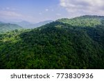aerial view of the rain forest | Shutterstock . vector #773830936