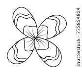 flower natural botanical...   Shutterstock .eps vector #773834824