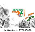 indian republic day concept... | Shutterstock .eps vector #773835028