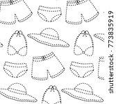 swimsuits short bikini and hat...   Shutterstock .eps vector #773835919