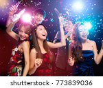 young group enjoying party and... | Shutterstock . vector #773839036