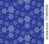 snowflakes pattern vector...   Shutterstock .eps vector #773839540