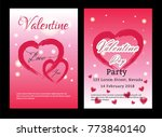 valentines day sale background... | Shutterstock .eps vector #773840140
