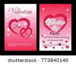 valentines day sale background... | Shutterstock .eps vector #773840140