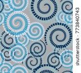 seamless texture. chaotically... | Shutterstock .eps vector #773840743