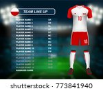 poland soccer jersey kit with... | Shutterstock .eps vector #773841940