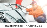 automobile manufacturing ... | Shutterstock . vector #773846263