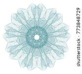 guilloche mandala . it can be... | Shutterstock .eps vector #773848729