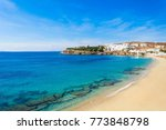 agios stefanos beach on the... | Shutterstock . vector #773848798