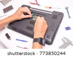 computer repair and upgrade | Shutterstock . vector #773850244