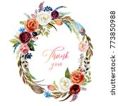 watercolor floral flower... | Shutterstock . vector #773850988