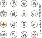 line vector icon set   money...