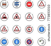 line vector icon set   sign... | Shutterstock .eps vector #773853310