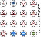 line vector icon set   road... | Shutterstock .eps vector #773853370