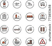 line vector icon set   airport... | Shutterstock .eps vector #773853658
