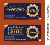 voucher design template | Shutterstock .eps vector #773853988