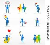 education icons set   Shutterstock .eps vector #77385472