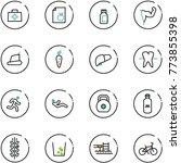 line vector icon set   doctor... | Shutterstock .eps vector #773855398