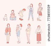list the life of a woman in a... | Shutterstock .eps vector #773855539