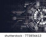 technology digital abstract on... | Shutterstock .eps vector #773856613
