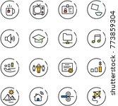 line vector icon set   tea... | Shutterstock .eps vector #773859304
