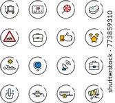 line vector icon set   baggage...   Shutterstock .eps vector #773859310