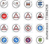 line vector icon set  ... | Shutterstock .eps vector #773862928