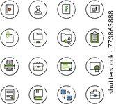 line vector icon set   passport ... | Shutterstock .eps vector #773863888