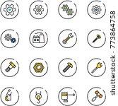 line vector icon set   heart... | Shutterstock .eps vector #773864758