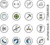 line vector icon set   floor... | Shutterstock .eps vector #773864818