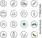 line vector icon set   diet... | Shutterstock .eps vector #773865364