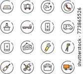 line vector icon set   taxi... | Shutterstock .eps vector #773865526