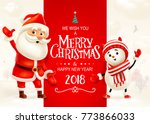 merry christmas and happy new... | Shutterstock .eps vector #773866033